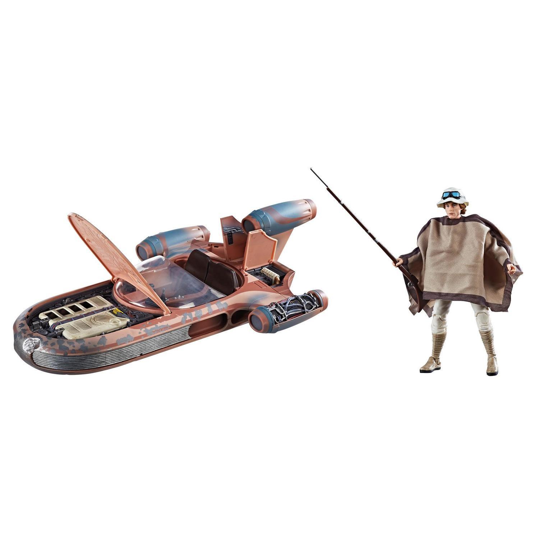 X2 Star Wars Black Series Rey Speeder /& Luke X-34 Landspeeder Lot of 2 Vehicles