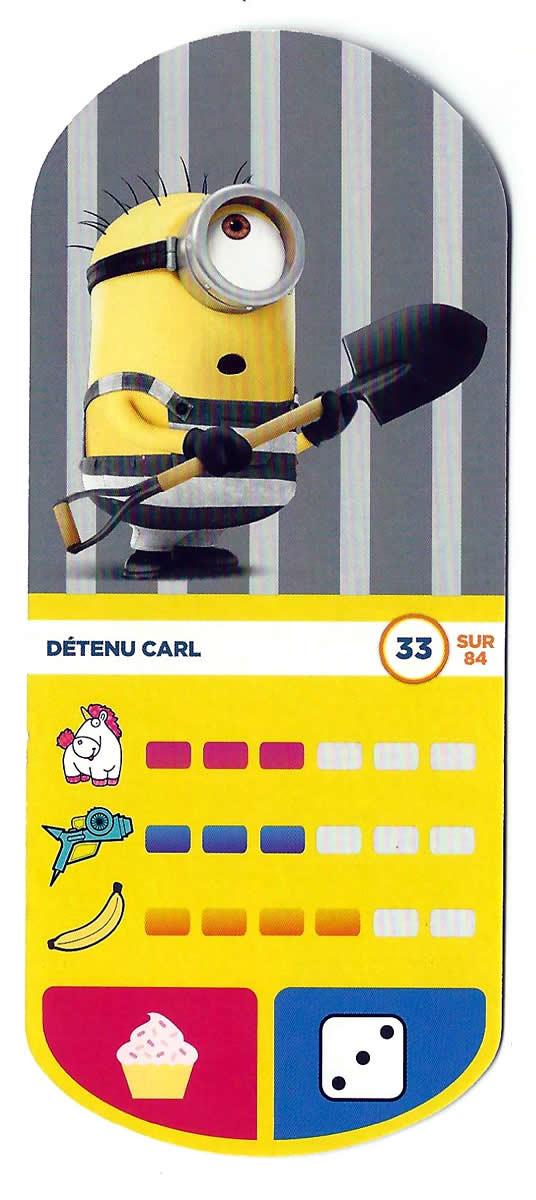 Carte Auchan Minion.Detenu Carl Cartes Auchan Moi Moche Et Mechant 3 33 Sur 84