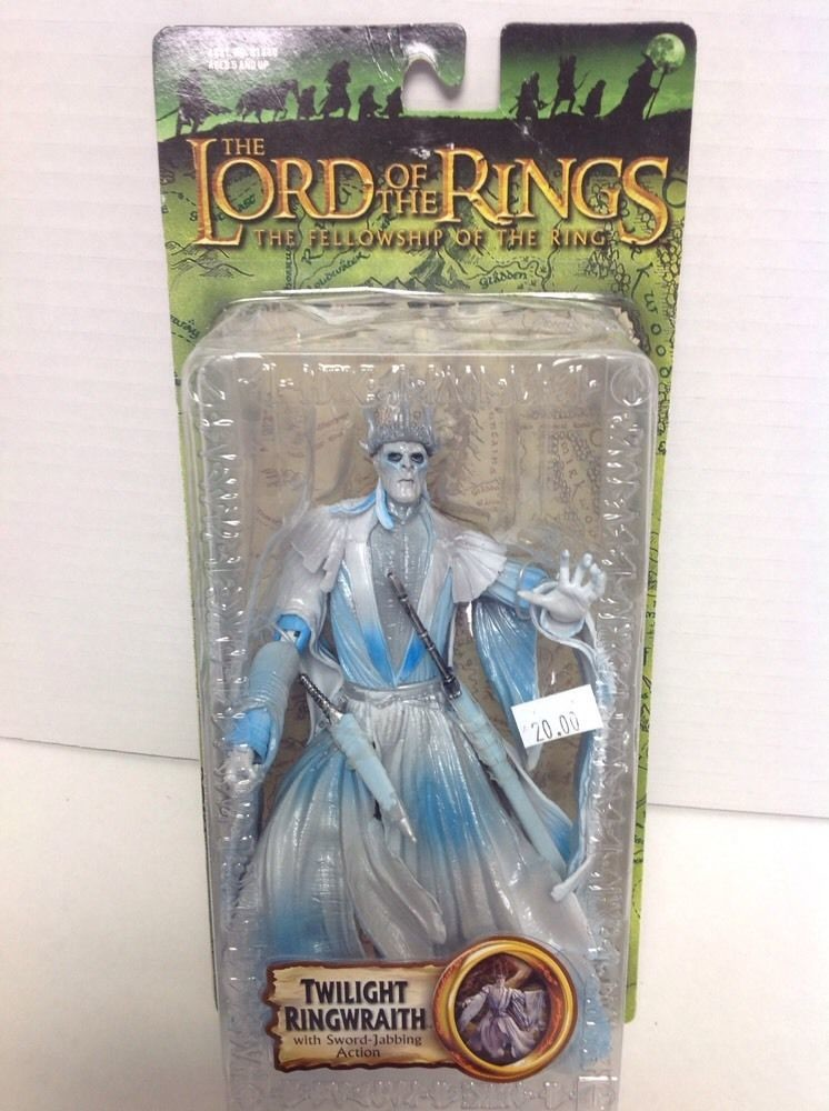 FRODO W// SWORD ATTACK ACTION LOTR FELLOWSHIP OF THE RING NEW ON CARD