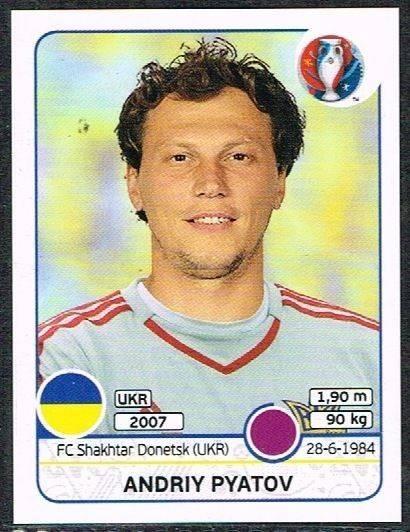 276 Panini Euro 2016 Yevhen Khacheridi Ukraine No