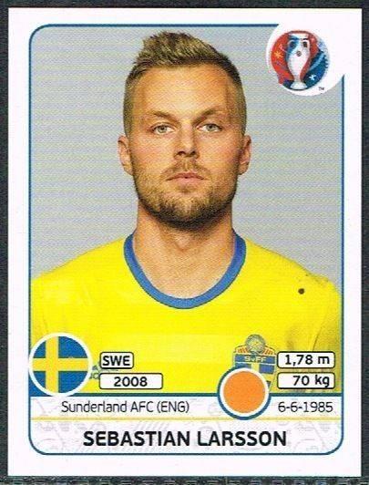 Sebastian Larsson Sweden No 546 Panini Euro 2016 Martin Olsson