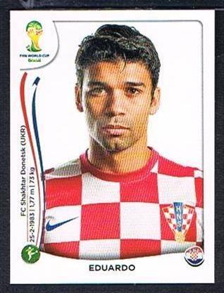 Panini 67 Eduardo Kroatien FIFA WM 2014 Brasilien