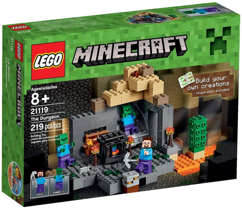 Lego Minecrafts Sets Checklist 21134 Minecraft The Waterfall Base Dungeon