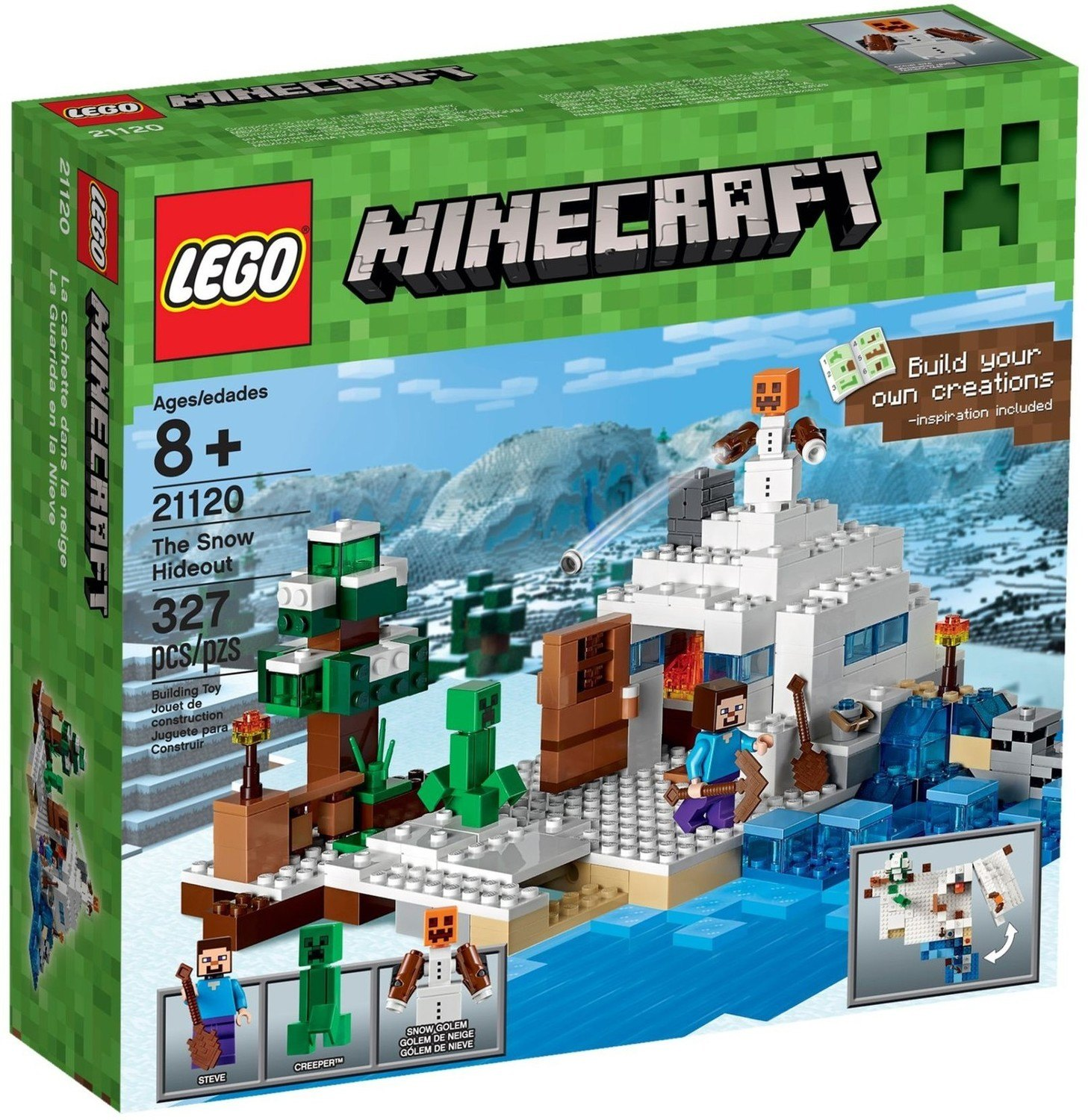 The Snow Hideout - LEGO Minecraft set 21120