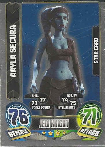 Star Card : Aalya Secura - Force Attax: Series 5 134