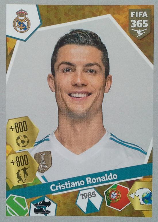 PANINI FIFA 365 2016-Cristiano Ronaldo Real Madrid FC no 389