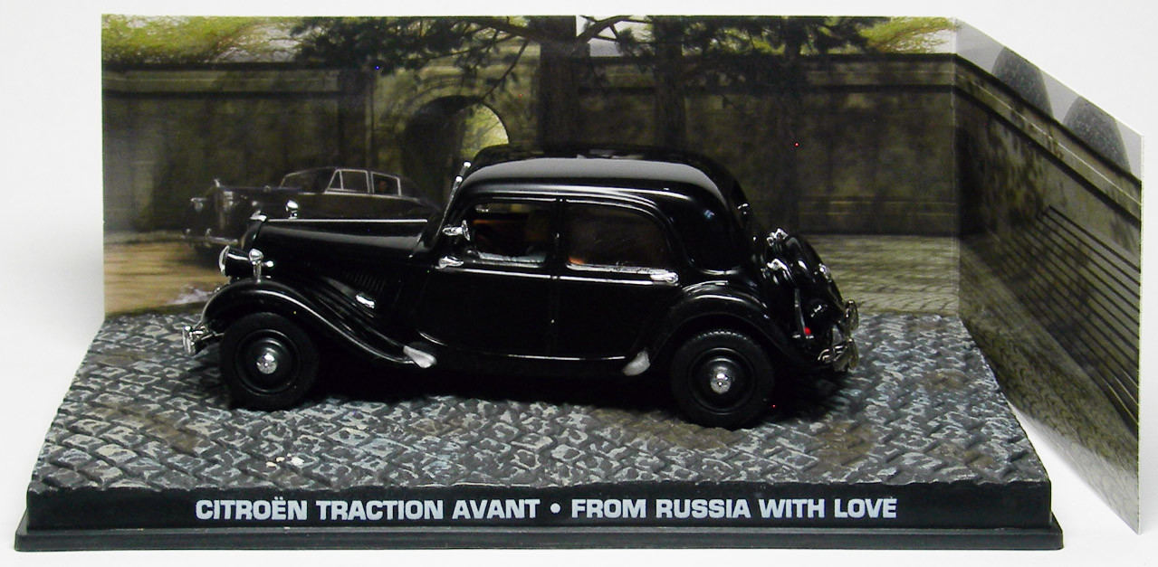 1//43 Miniature James Bond 007 Citroen Traction avant Noir From Russia With Love