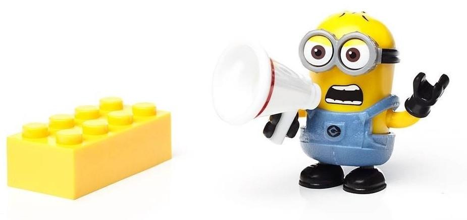 Dave Et Son Portevoix Figurine Serie Minions MEGA BLOKS - Porte voix