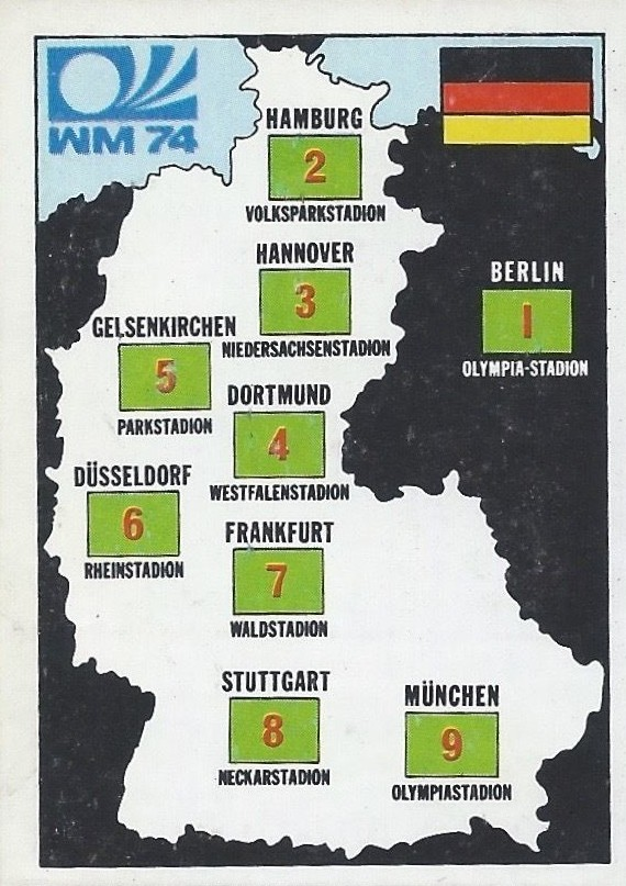 West Germany Harta History Munchen 74 World Cup Sticker 69