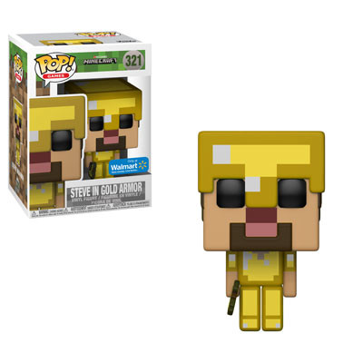 Minecraft - Steve in Gold Armor - POP! Games action figure 321