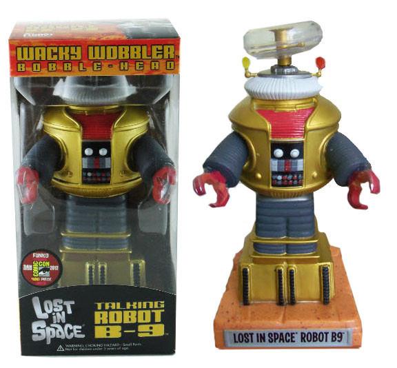 Wacky Wobbler Bobble Head Funko Lost In Space Talking Robot B-9 Comic Con 2012