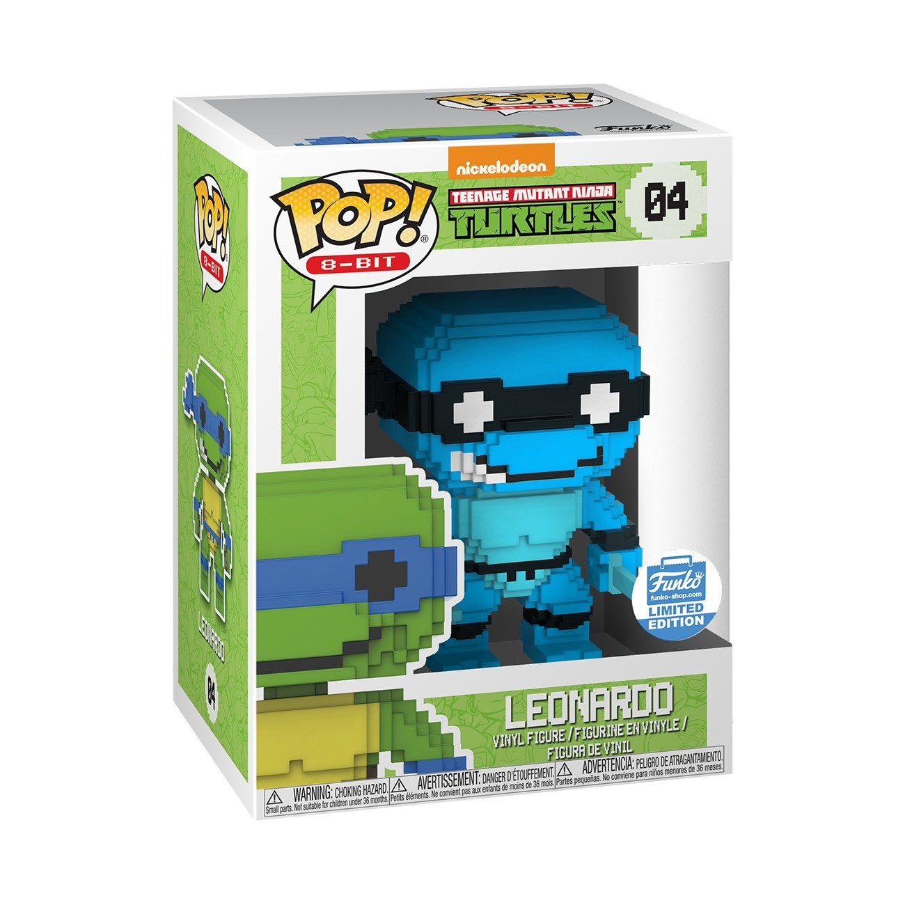 Neon Leonardo 8-Bit POP Teenage Mutant Ninja Turtles