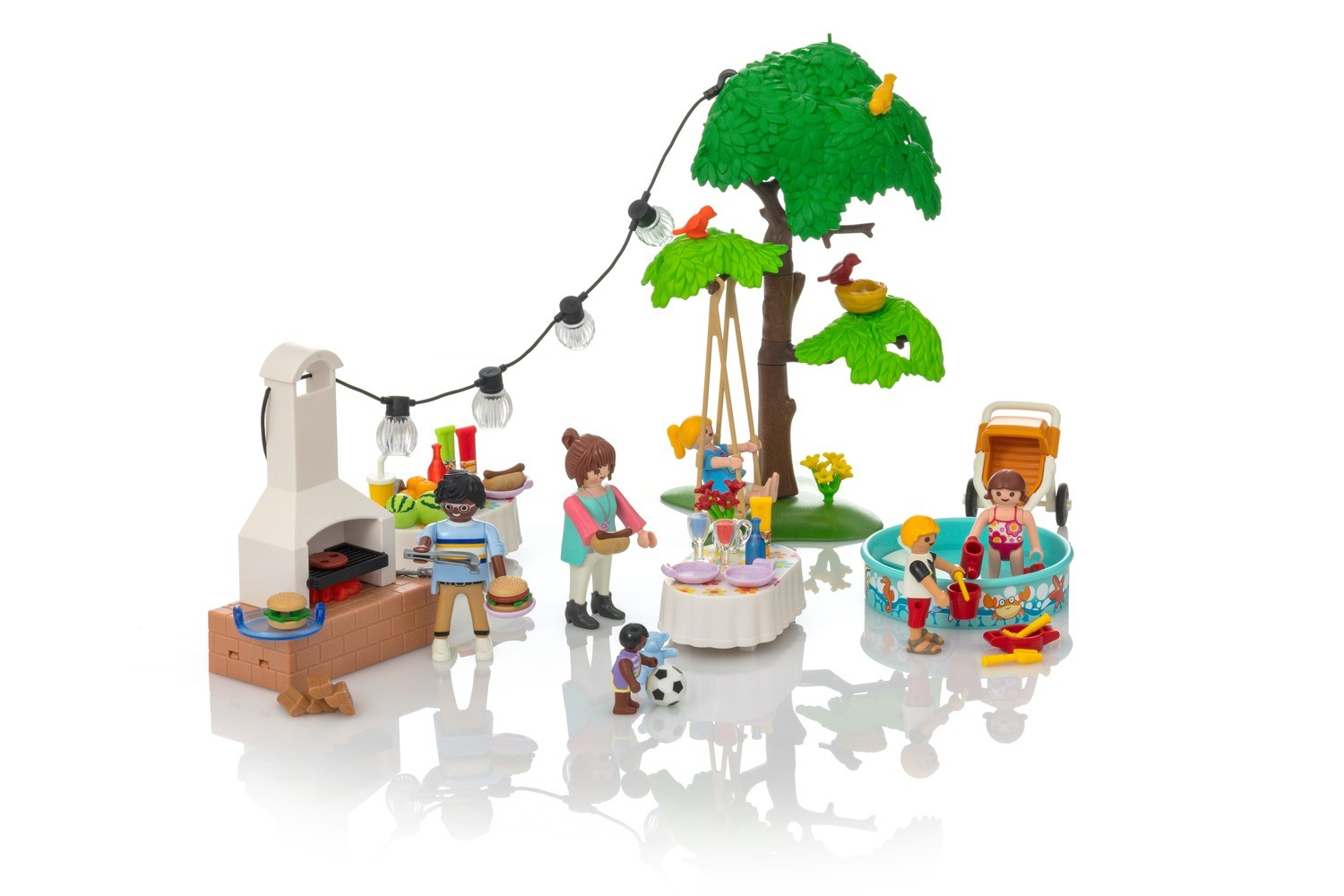 Party in the garden with barbecue - Playmobil sets 9272