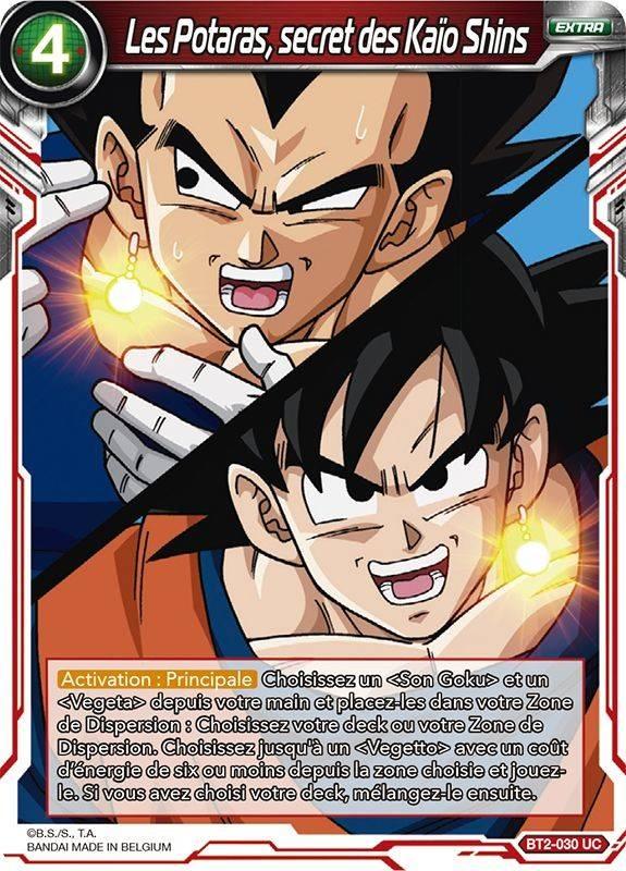 BT2-030 UC VF ♦Dragon Ball Super♦ Les Potaras secret des Kaïo Shins