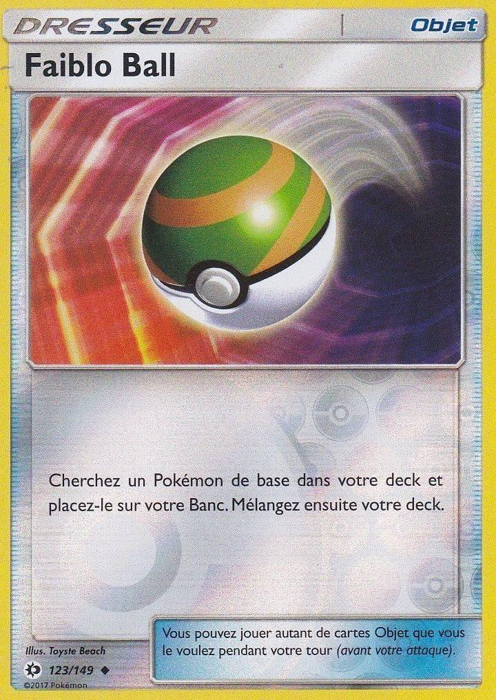 Pokemon Dresseur Faiblo Ball 123//149 Soleil et Lune FR