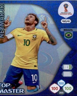 TOP MASTER ADRENLYN XL PANINI FIFA WORLD CUP BRASIL 2014 NEYMAR JR