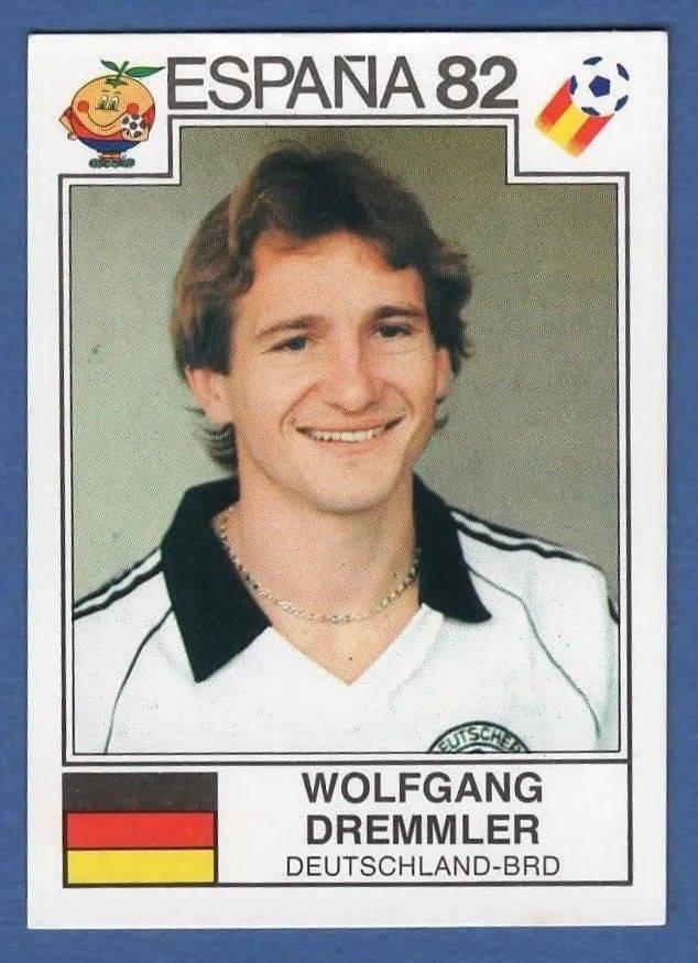 N°119 WOLFGANG DREMMLER WORLD CUP 1982 STICKER PANINI FIGURINE DEUTSCHLAND