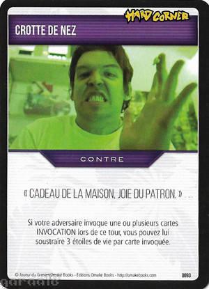 jeu de carte joueur du grenier Crotte de nez   carte 093 Joueur du grenier   Trading Card Game