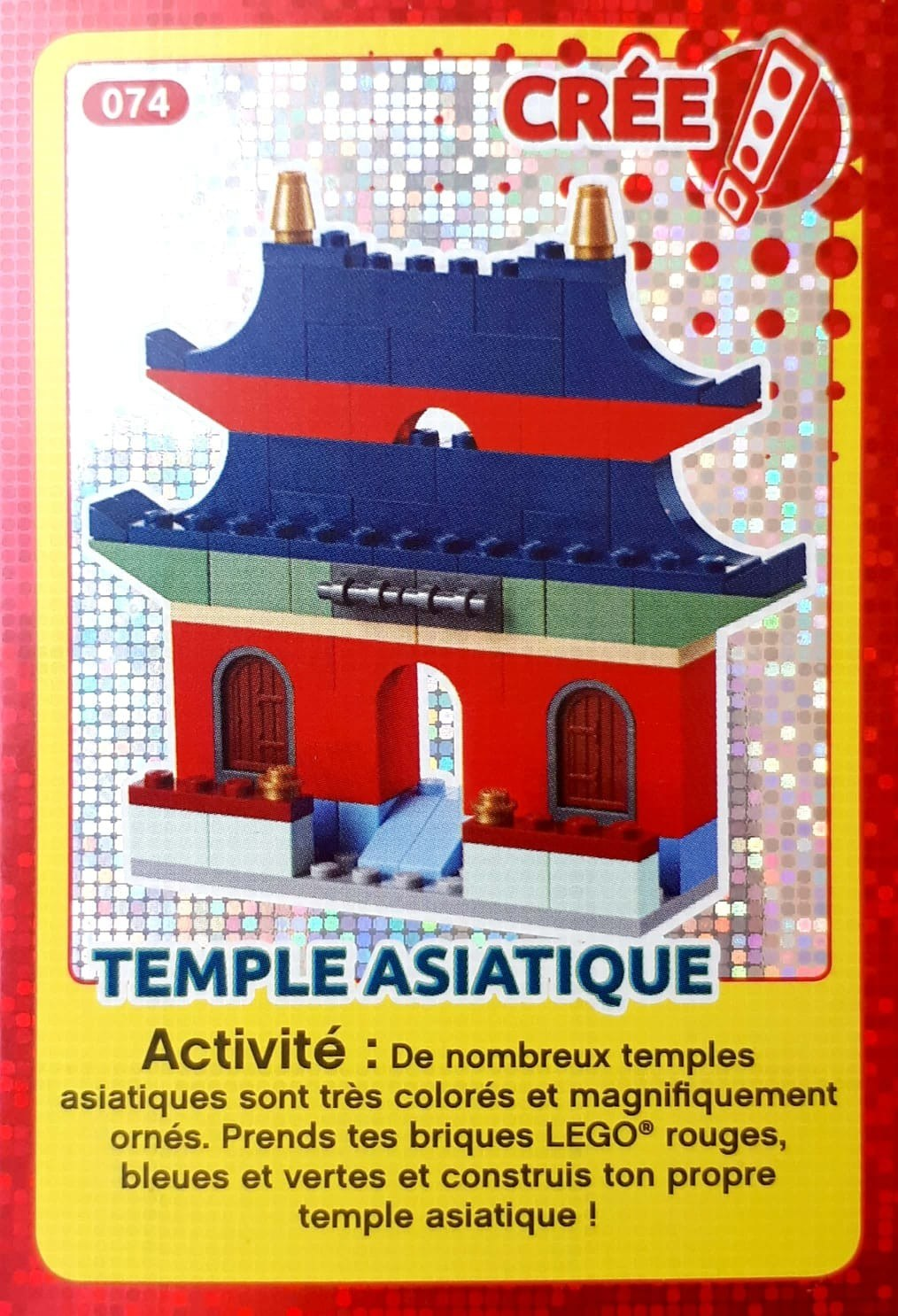 AuchanCrée Temple Cartes Ton Monde 074 Asiatique Lego 54Lq3RjAc