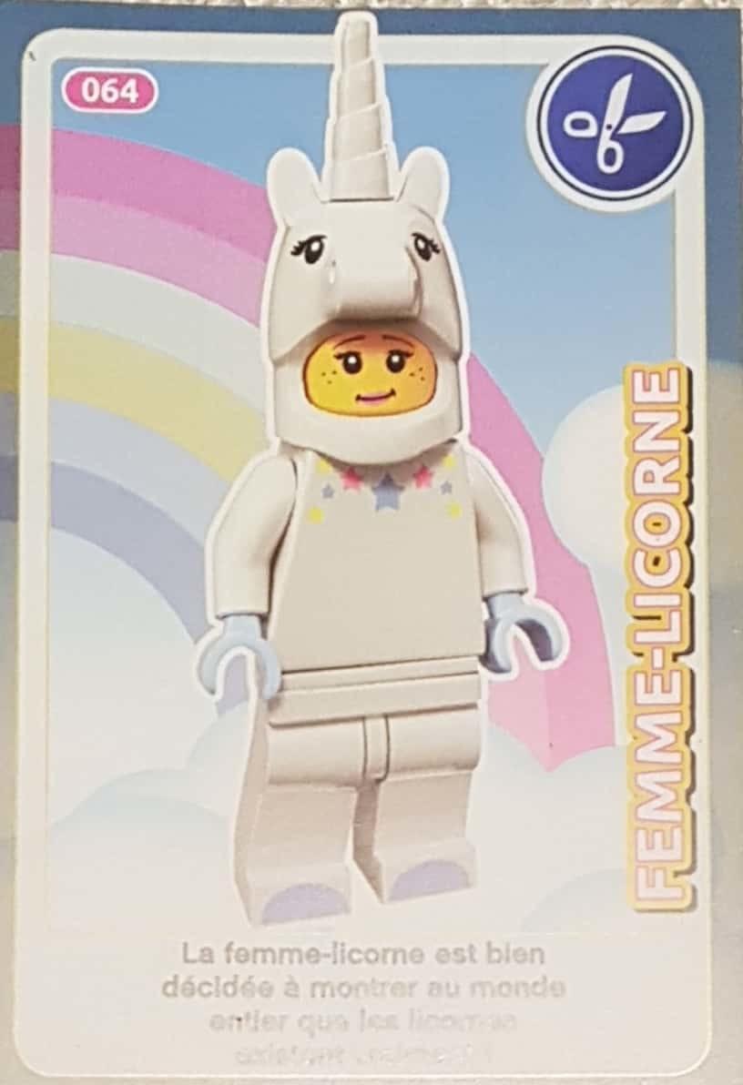 Carte Lego Auchan Echange.Femme Licorne Cartes Lego Auchan Cree Ton Monde 064