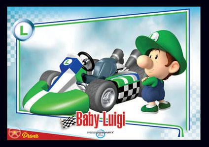 Baby Luigi Mario Kart Wii Trading Cards Enterplay 016