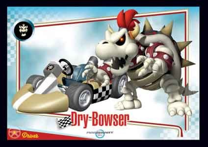 Dry Bowser Mario Kart Wii Trading Cards Enterplay 023
