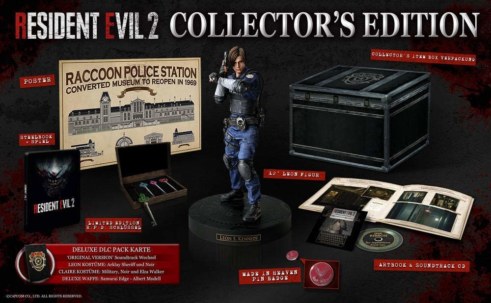 Playstation Karte.Resident Evil 2 Collector Edition Playstation 4 Ps4 Game