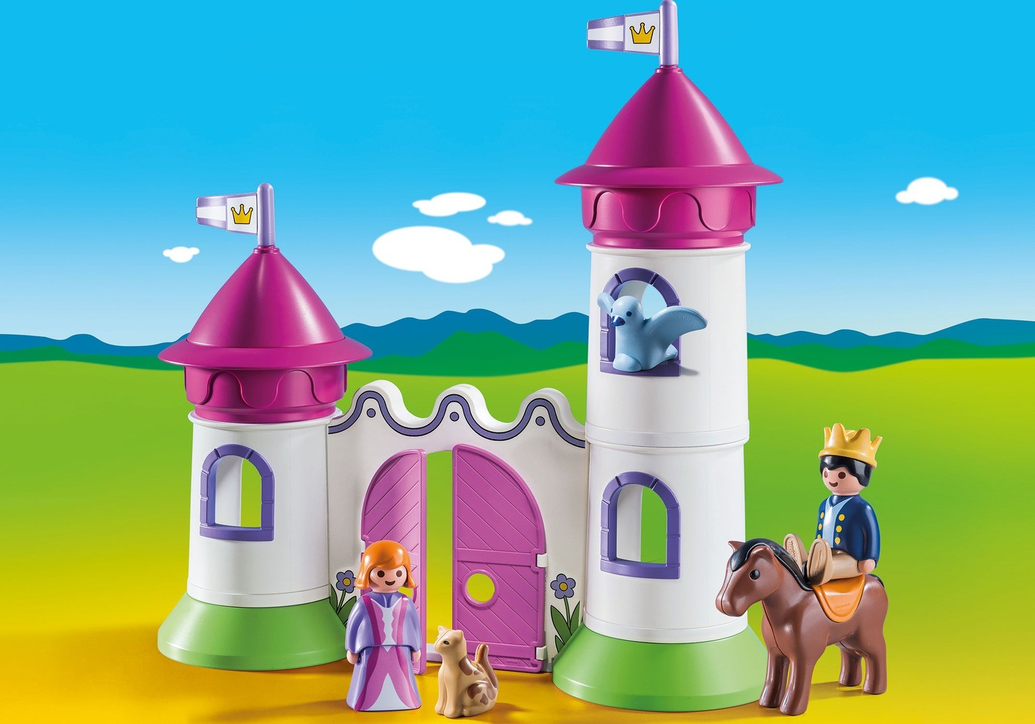 Princess Castle with towers - Playmobil 1.2.3 9389