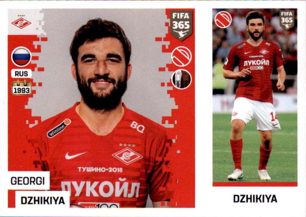 Georgi Dzhikiya - FC Spartak Moskva - the golden world of football fifa 19  sticker 292