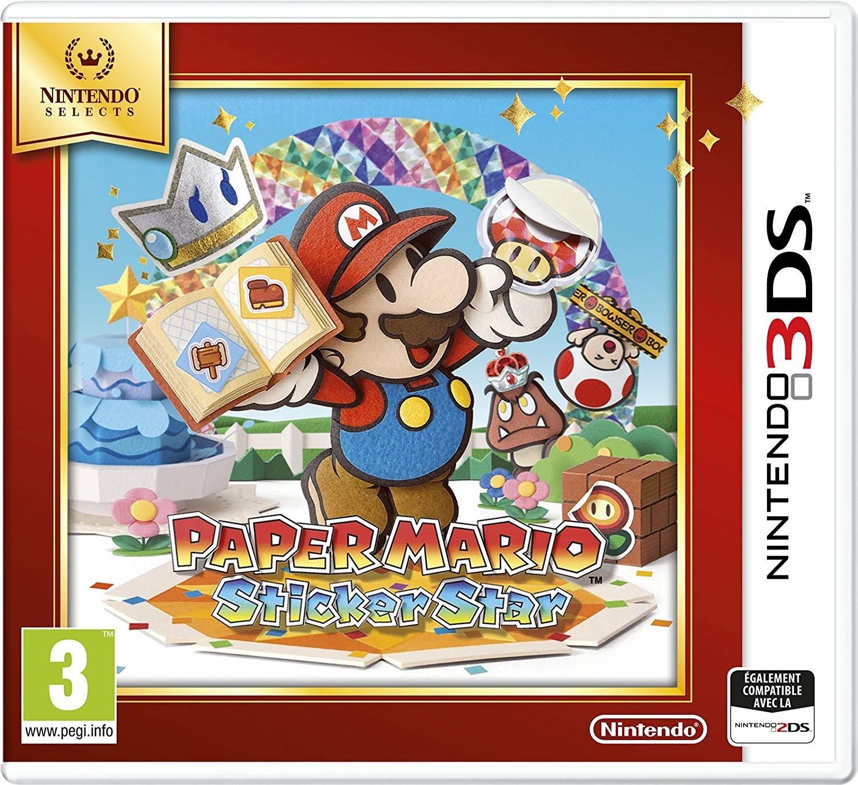 Paper Mario Sticker Star (Nintendo Selects) - Nintendo 3DS game