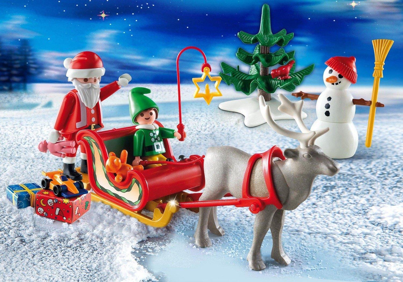 Malette Avec Motif Traîneau Du Père Noël Playmobil De Noël
