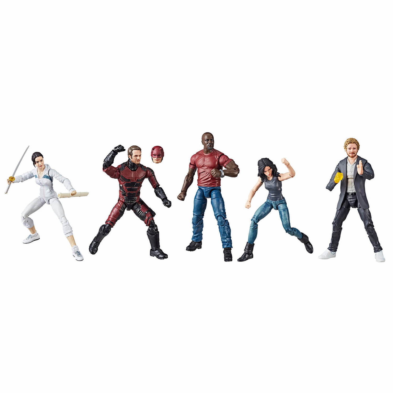 HASBRO MARVEL LEGENDS SERIES défenseurs Rail AUTHORITY 5-Pack de San Diego comic-con 2018 Exclusive