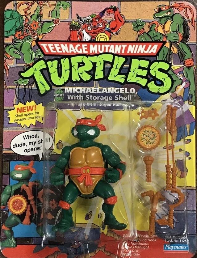 Teenage Mutant Ninja Turtles TMNT Weapon Storage Shell Michaelangelo Flashlight