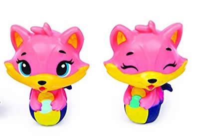 Hatchimals Season 3 CollEGGtibles Figurine Rare Foxfin Fox Twins Pink Animal Toy
