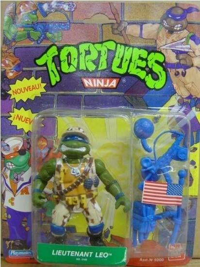 Figurine Les Tortues ninja TMNT teenage mutant playmates toys Lieutenant Leo