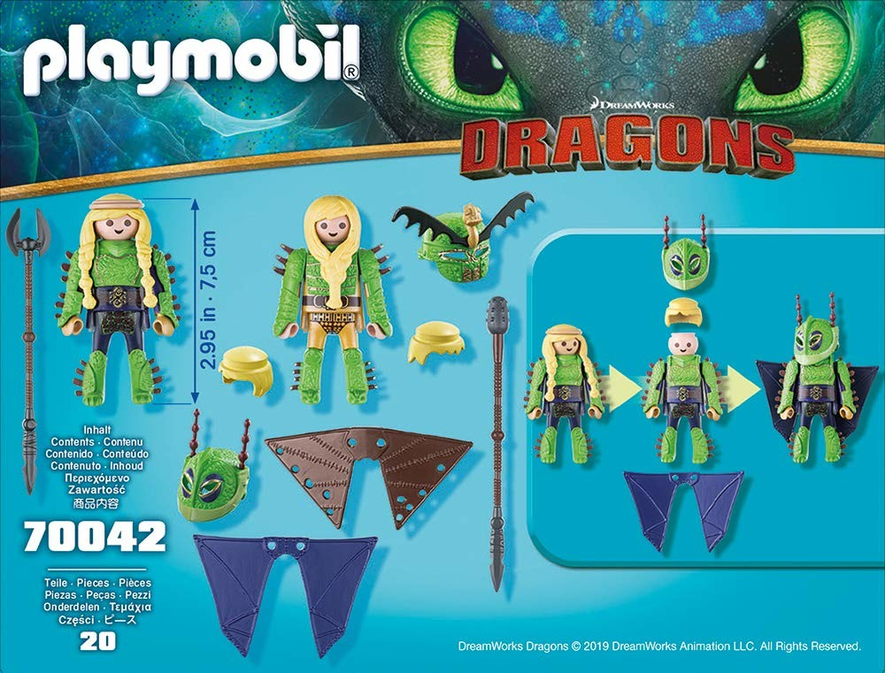 Playmobil Ruffnut et Tuffnut avec combinaison de vol-Dragons 70042