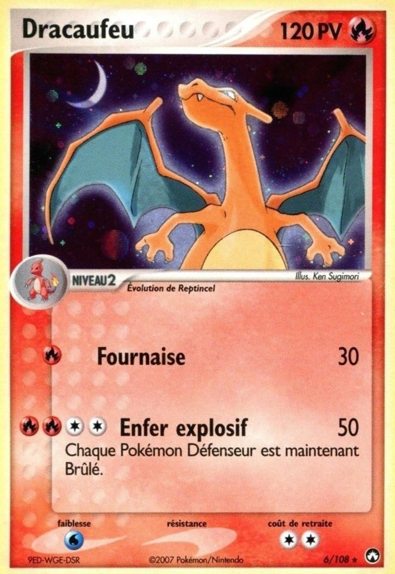 Pokemon Gardiens Pouvoir Holo N 6108 Dracaufeu Collectible