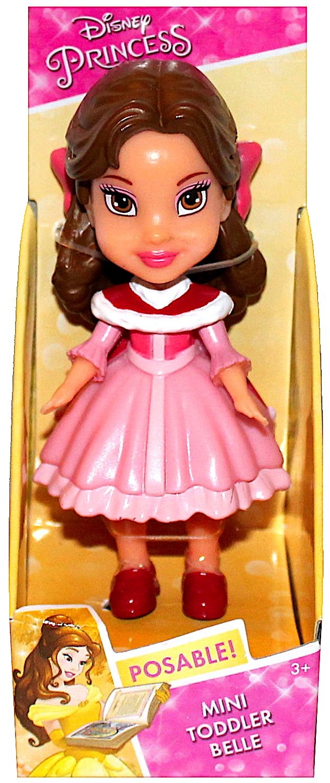 Mini Toddler Belle Pink Dress Jakks Disney Princess Action