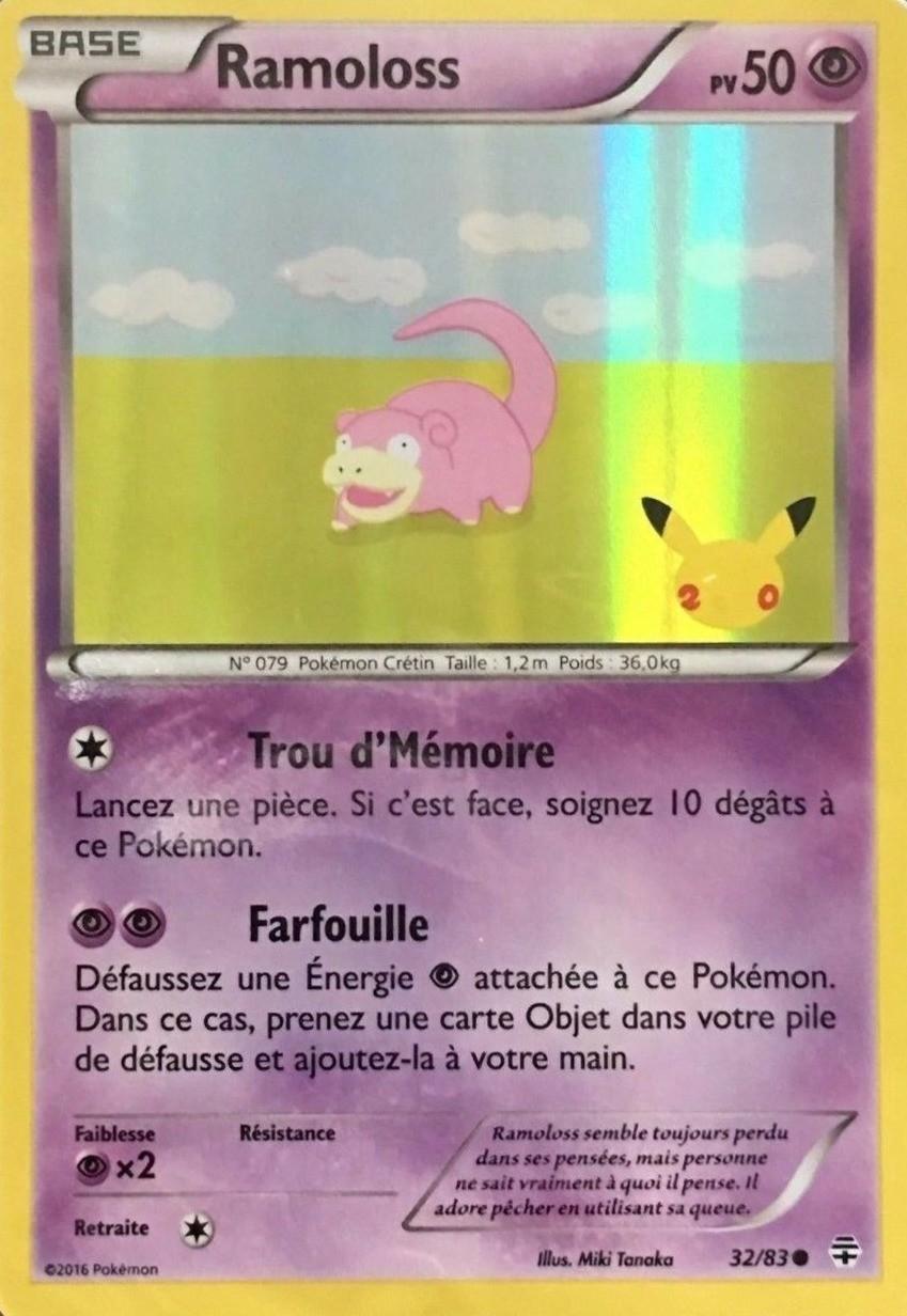 3283 20 Toys'r'us Ramoloss Carte Holographique Ans Pokémon KcFuTl31J5
