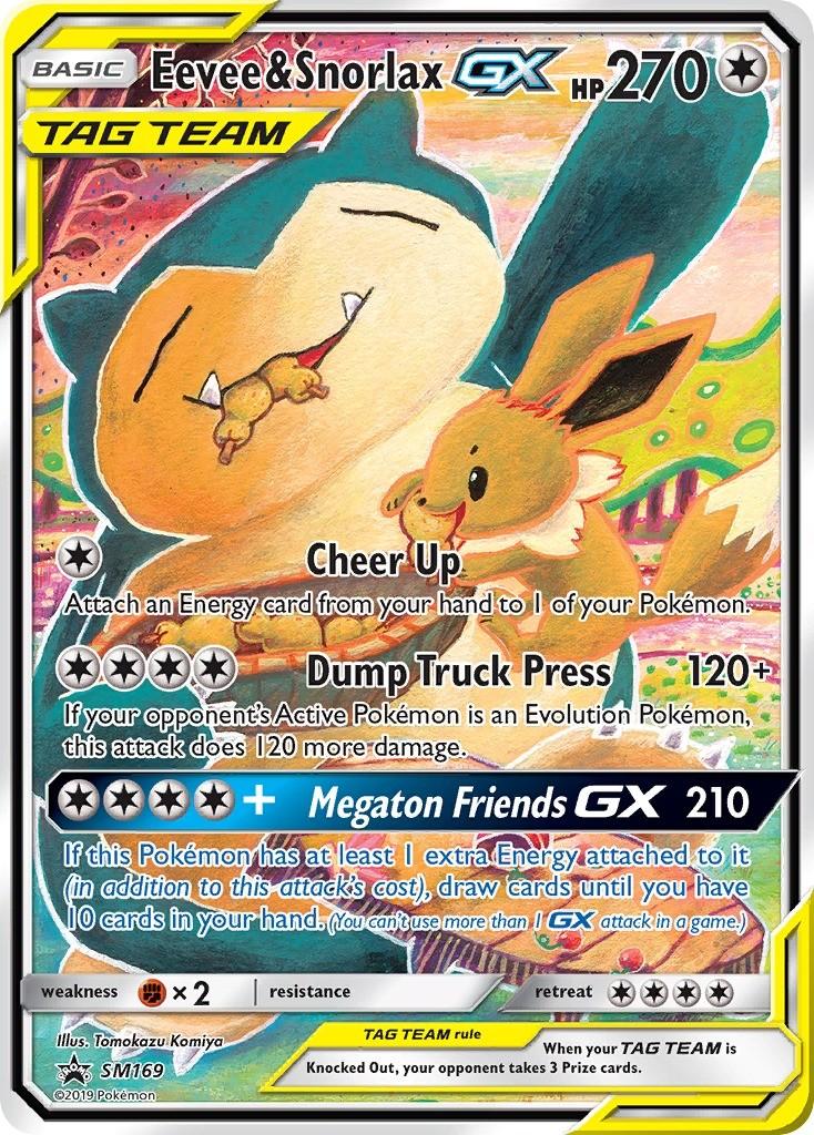 Eevee Snorlax Gx Tag Team Sun Moon Promos Pokemon Card Sm169