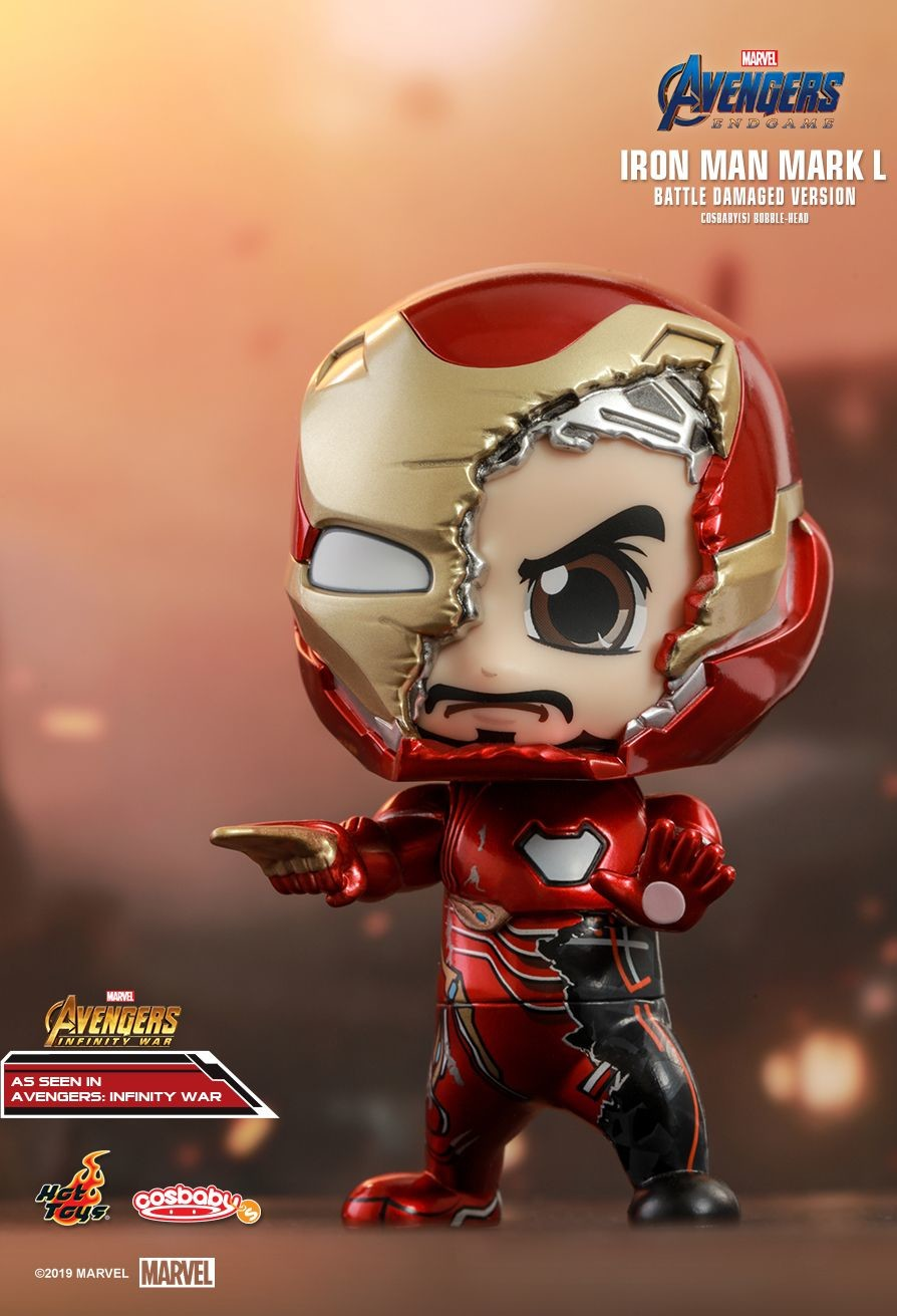 THANOS COSBABY BOBBLE-HEAD Figure by Hot Toys Marvel Avengers Endgame Movie 2019