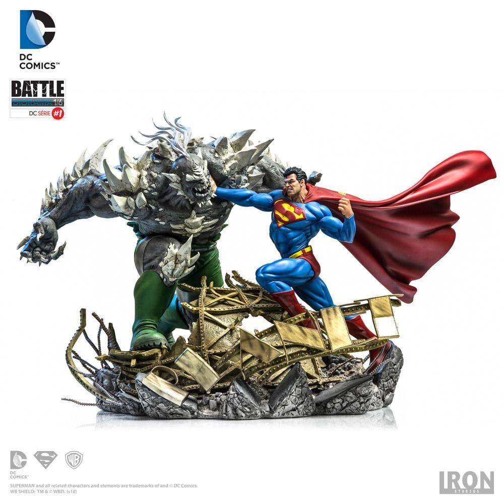 Superman Superman Vs Doomsday Iron Studios Action Figure