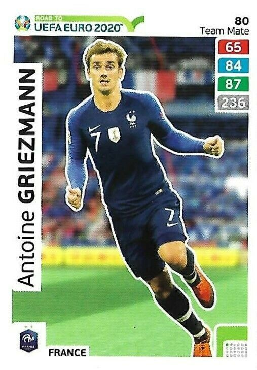 carte foot euro 2020 Antoine Griezmann   France   carte 080 Adrenalyn XL   Euro 2020