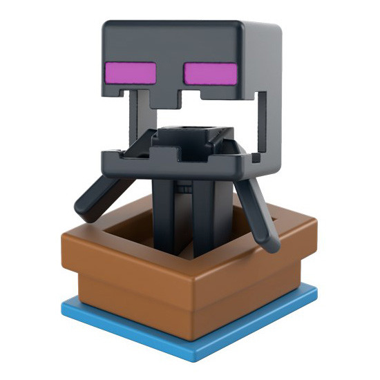 Trapped Enderman - Minecraft Mini Figures Series 15 action