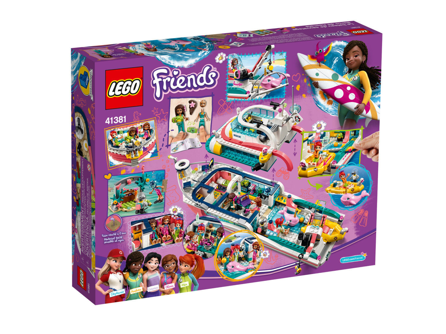 Rescue Mission Boat - LEGO Friends set 41381