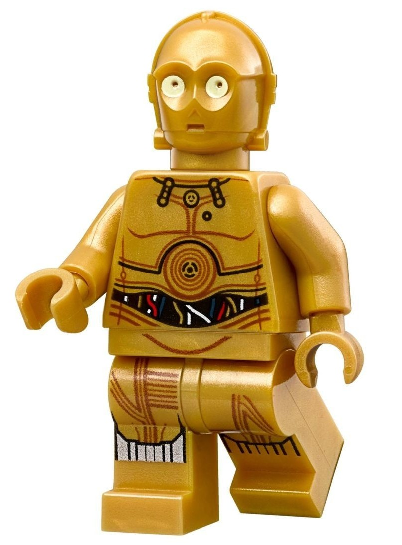 Lego C-3PO 75222 75159 75136 Colorful Wires Printed Legs Star Wars Minifigure