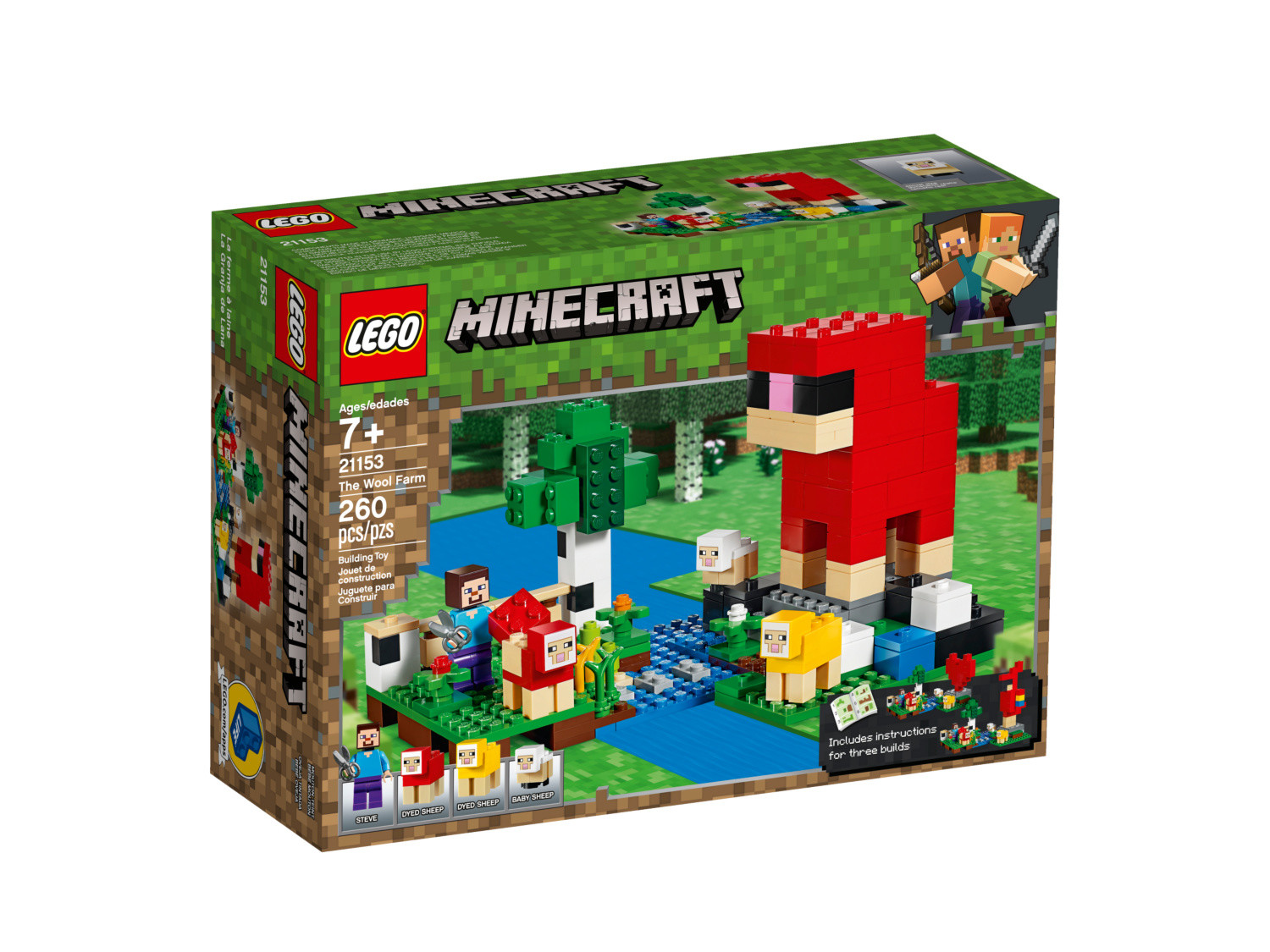 The Wool Farm Lego Minecraft Set 21153