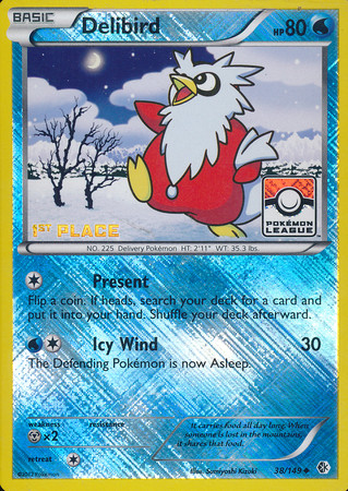 Pokémon Boundaries Crossed DELIBIRD 2ND PLACE 38//149
