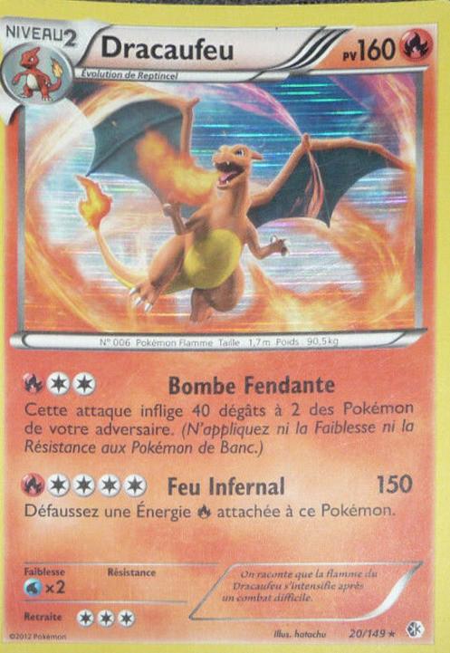 Dracaufeu Holographique Carte Pokémon 20149 Frontières