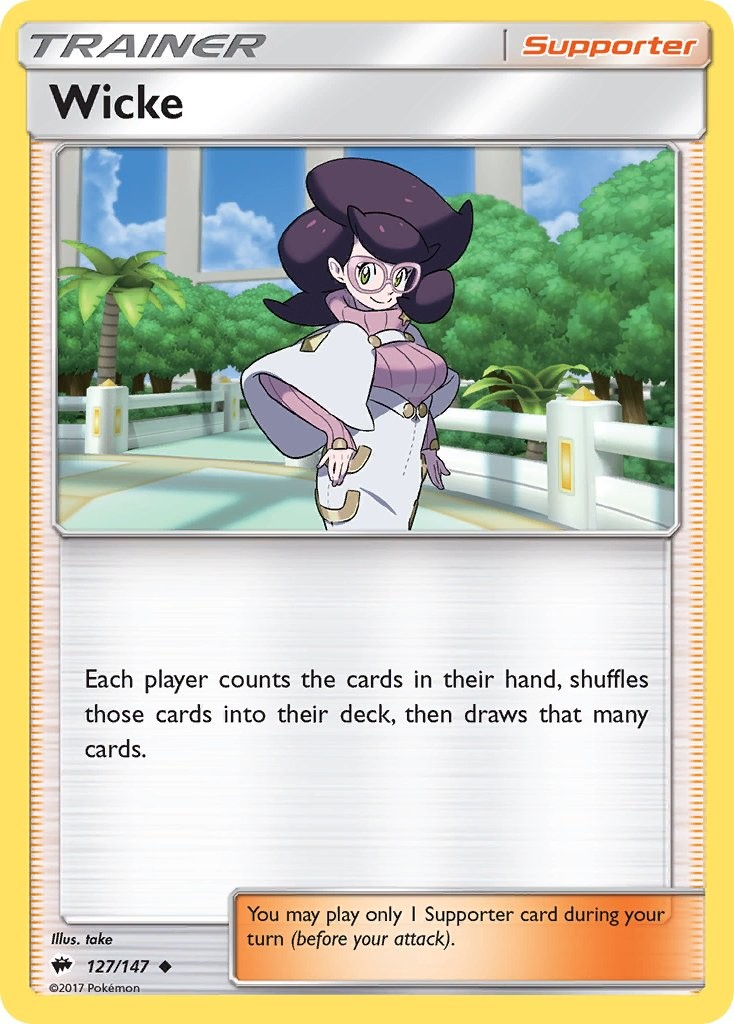 Wicke Burning Shadows Pokemon Card 127 147 Primal clash singles pokemon set. coleka
